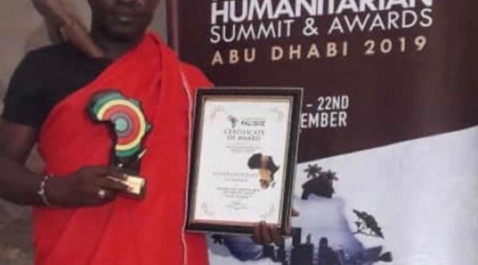 The coordinator and founder  of the cultural group Netos de Bandim won the PAN-AFRICAN HUMANITARIAN AWARD
